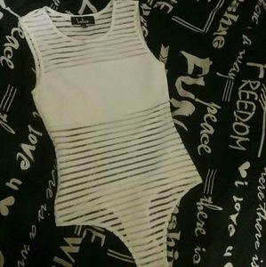 White bodysuit size xs